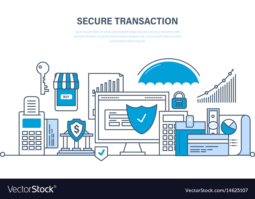 Transactions and payments security of deposits vector image