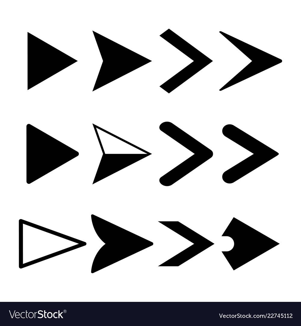 Arrow icons set pointers logo design