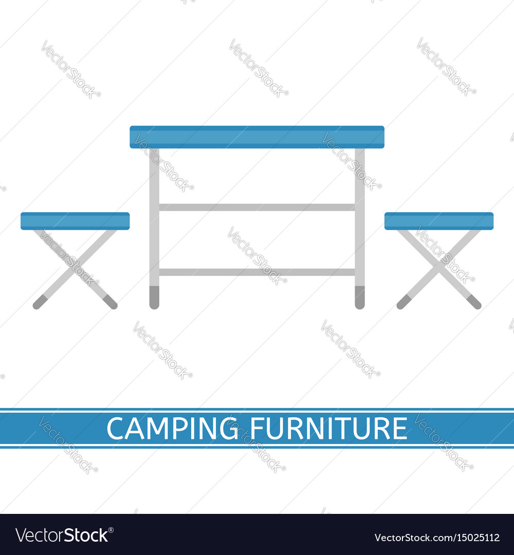 Camping furniture icon