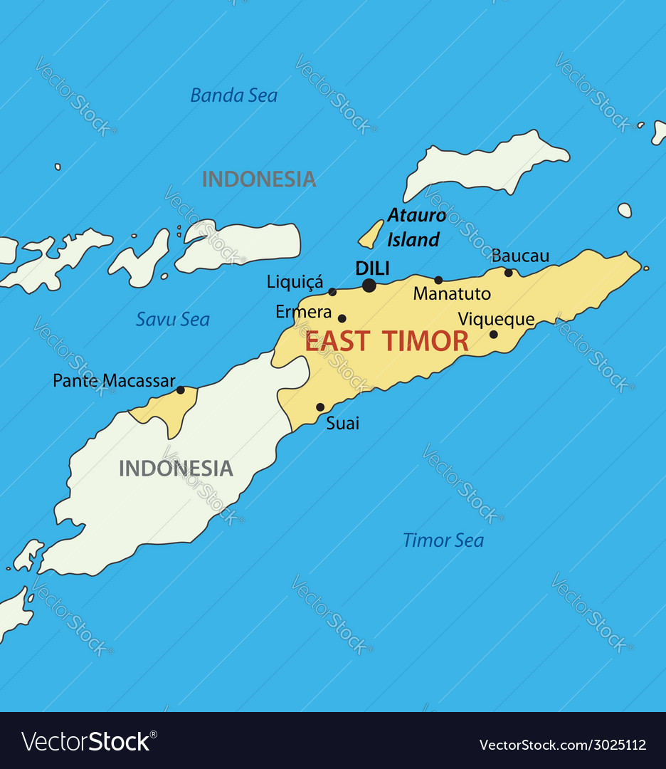 East Timor Map Royalty Free Vector Image Vectorstock