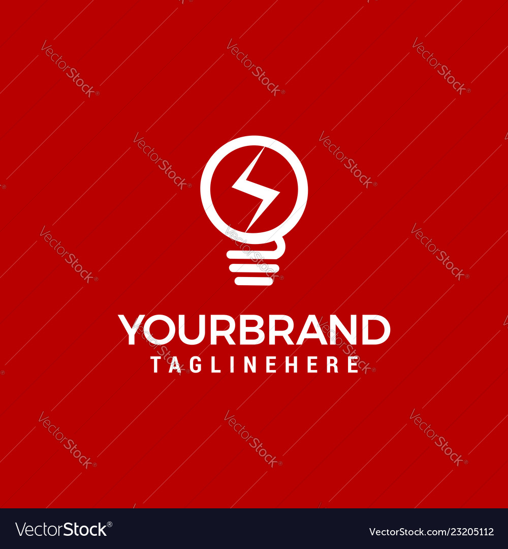 Electric bulb logo and icon design template