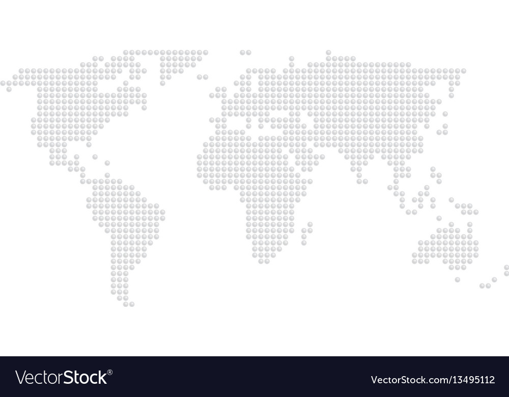 Embossed world dot map vector image