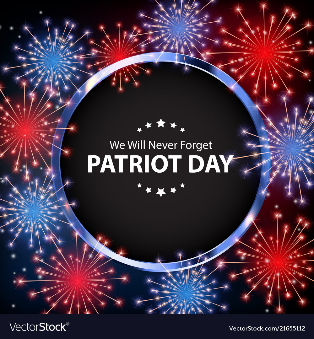Patriot day background september 11 poster we