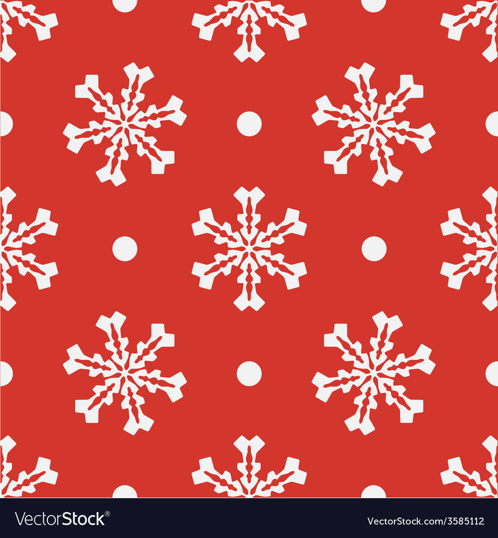 Red seamless snowflake pattern EPS10
