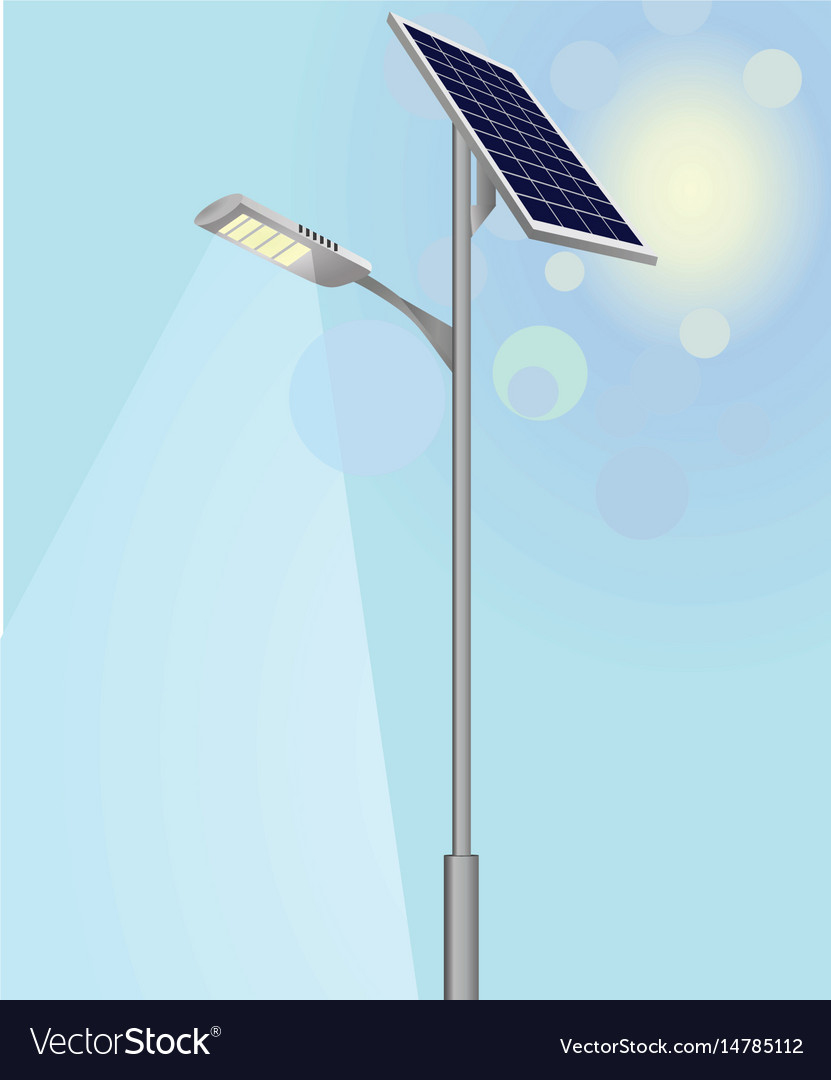 Street Light With Solar Panels