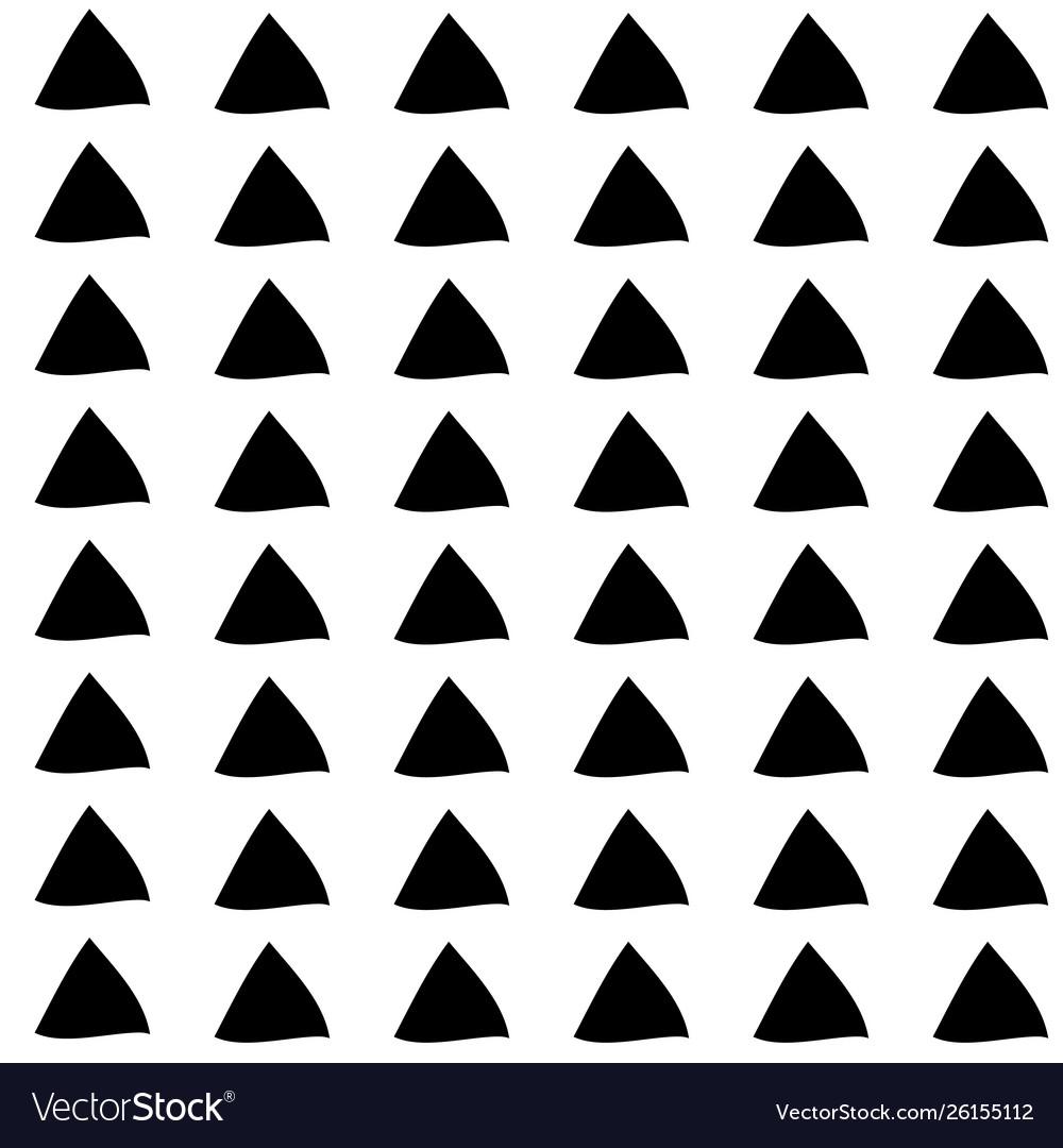 Triangle seamless hand drawn pattern black