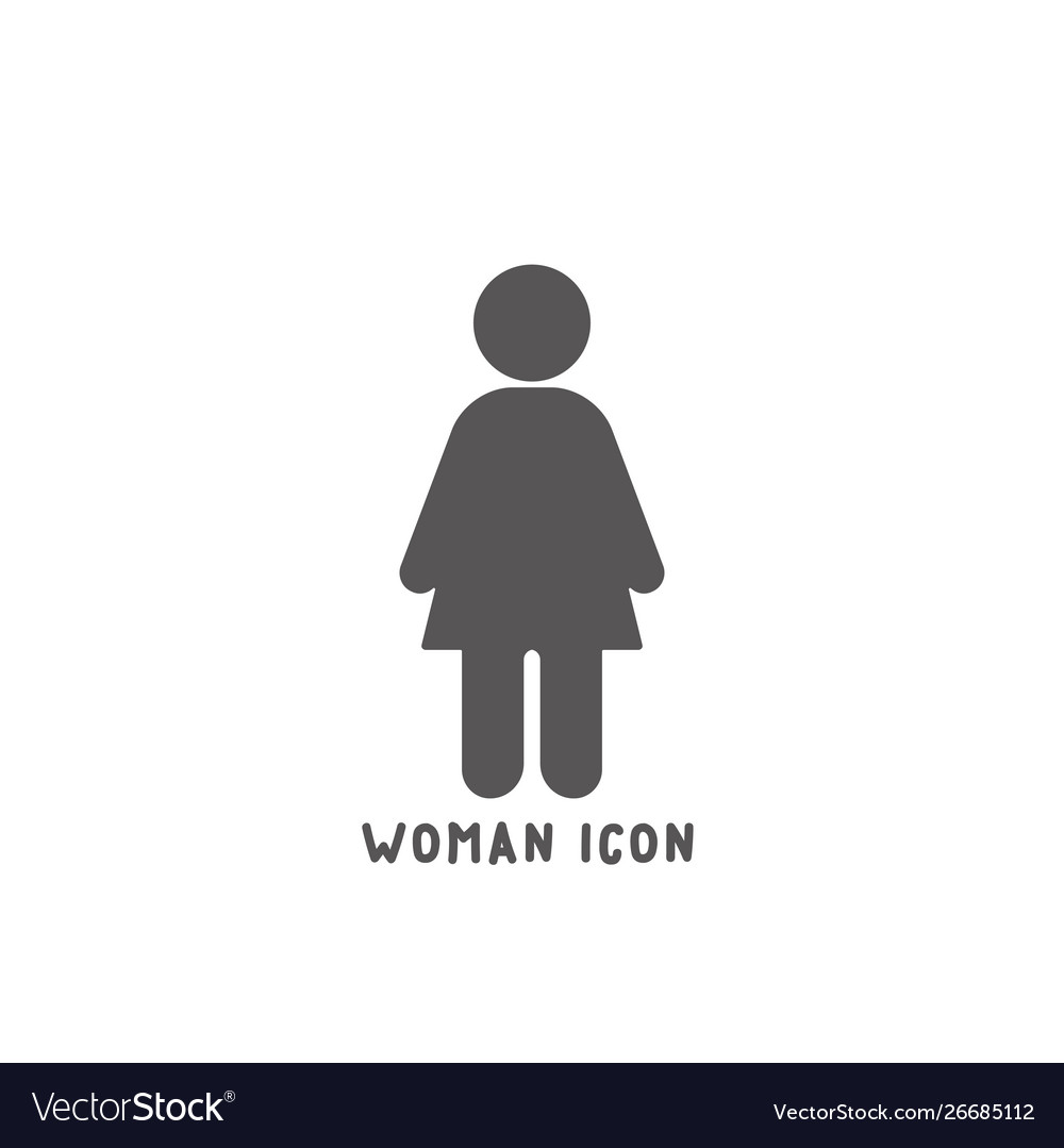 Woman icon simple flat style