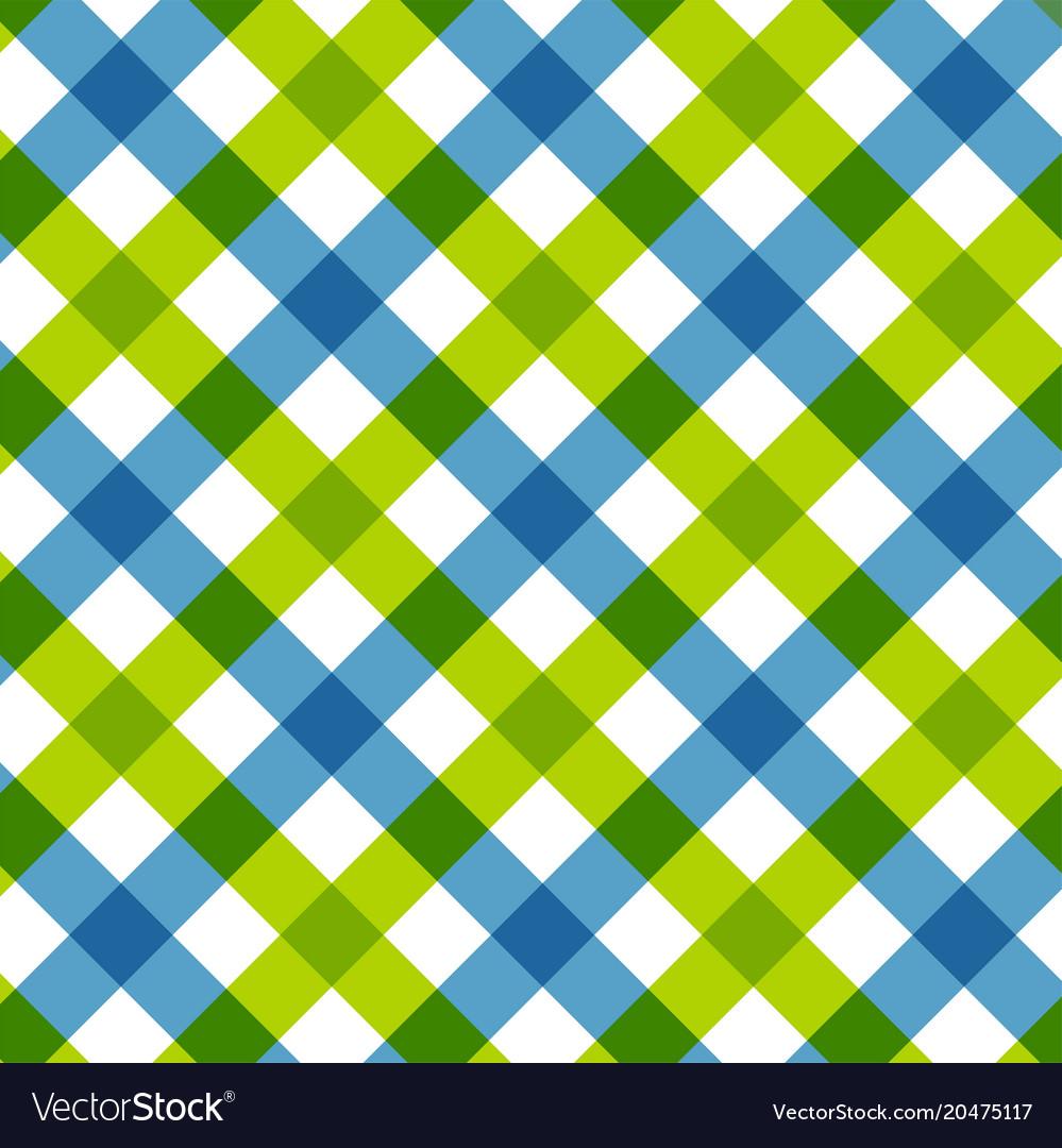 Blue green diagonal checkered retro tablecloth