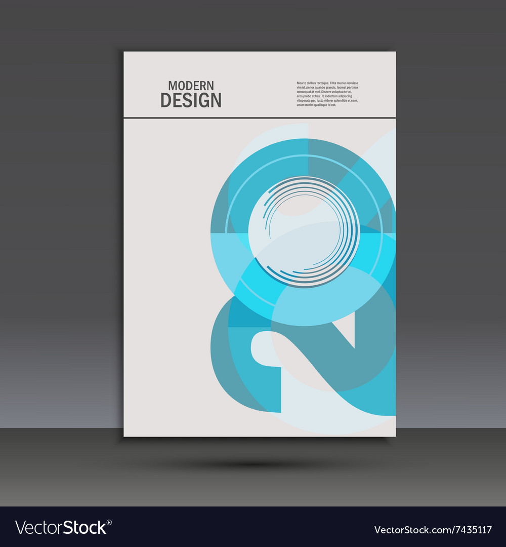Design 20 years anniversary Cover template vector image
