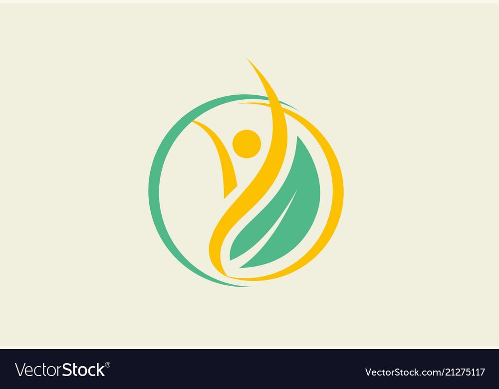 Eco people leaf logo