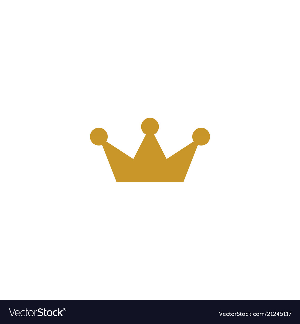 gold crown logo icon element royalty free vector image