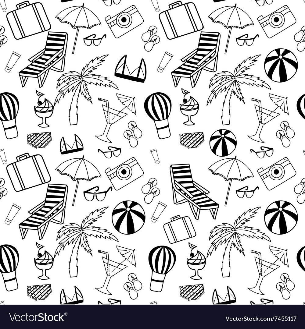 Hand drawn Travel seamless pattern for adult