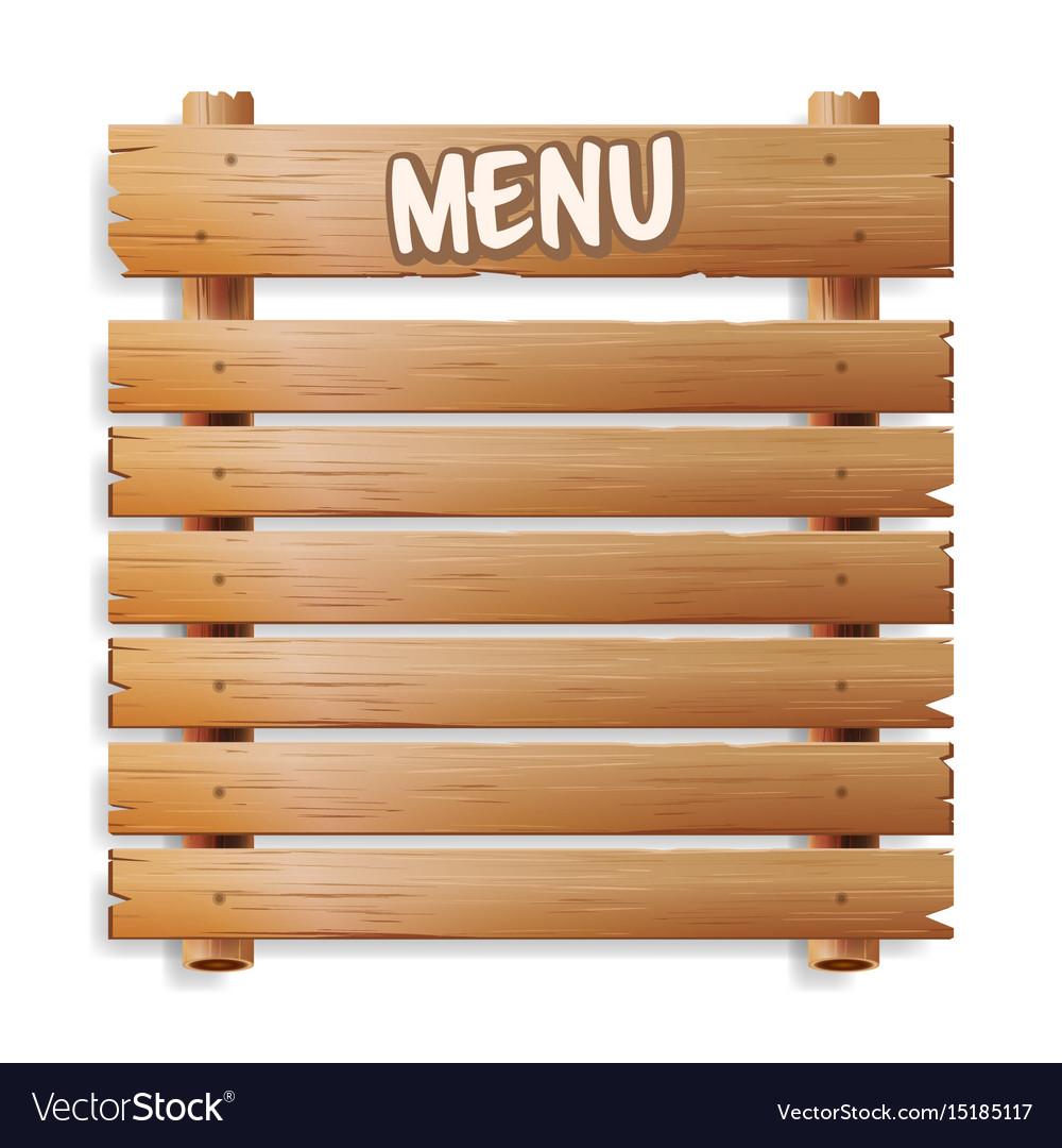 Menu board cafe or restaurant menu bulletin black