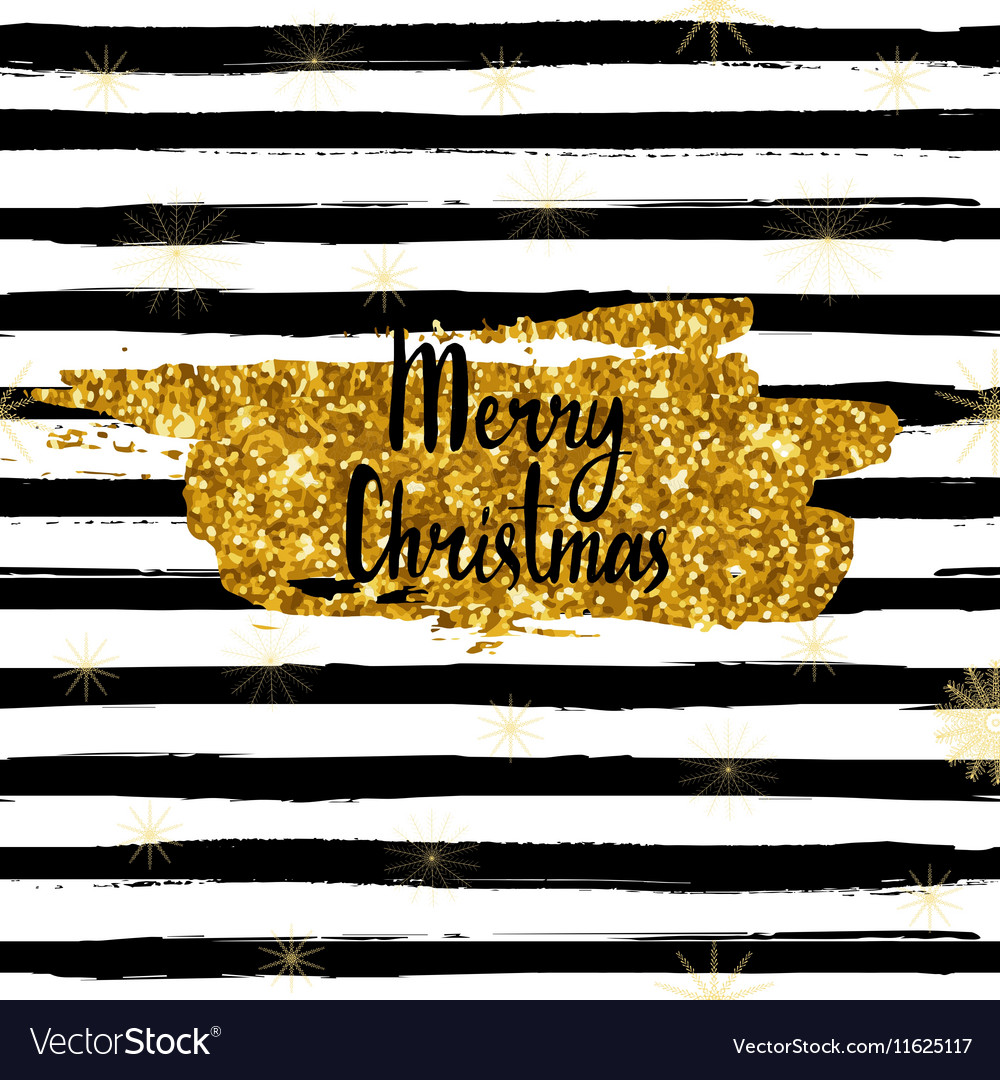 Merry Christmas card hand drawn font