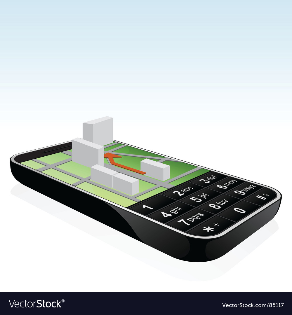 mobile phone symbol. Mobile Phone Navigator Icon