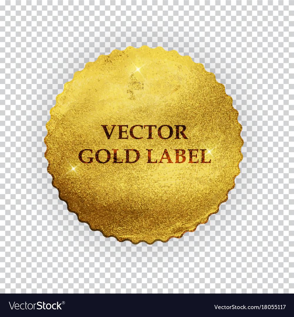 Premium quality shiny golden label luxury badg