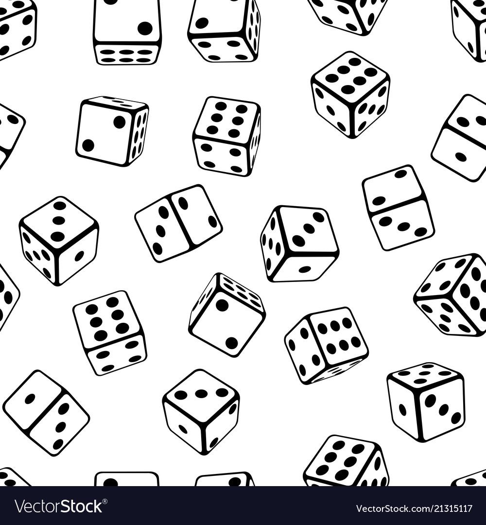 Seamless dice background