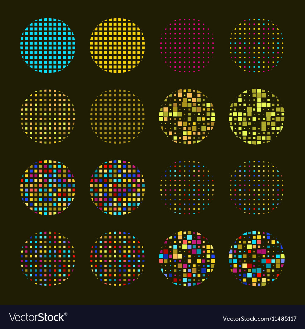 Set of Mosaic design elements