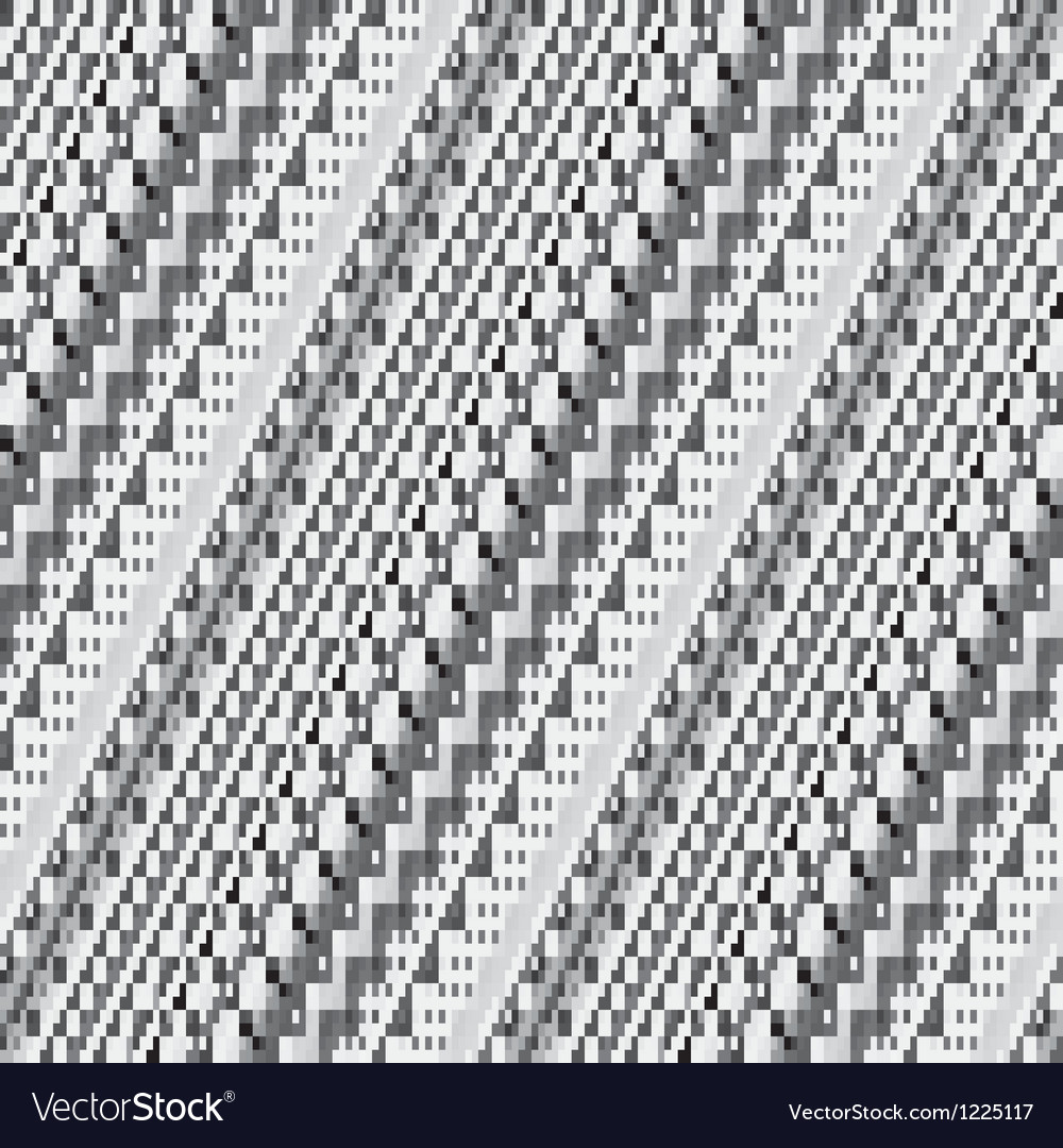Striped pixelated mosaic vector image