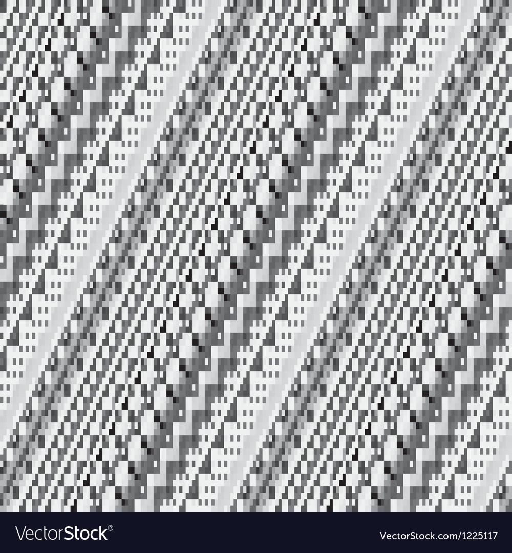Striped pixelated mosaic