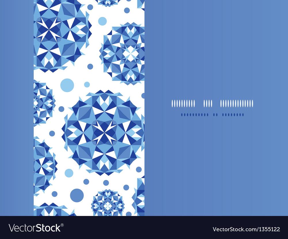 Blue abstract circles horizontal seamless pattern