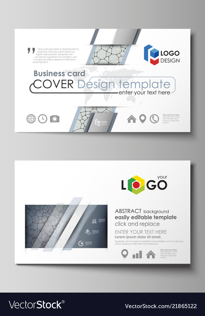Business card templates easy editable layout vector image wajeb Image collections