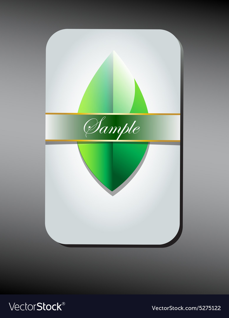 Card on green leaves texture vector image