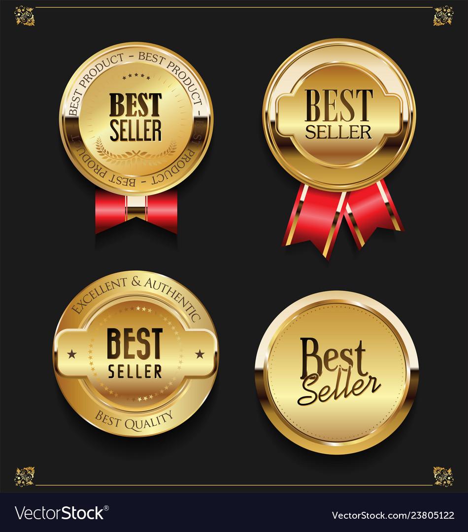 Collection of elegant golden premium best seller