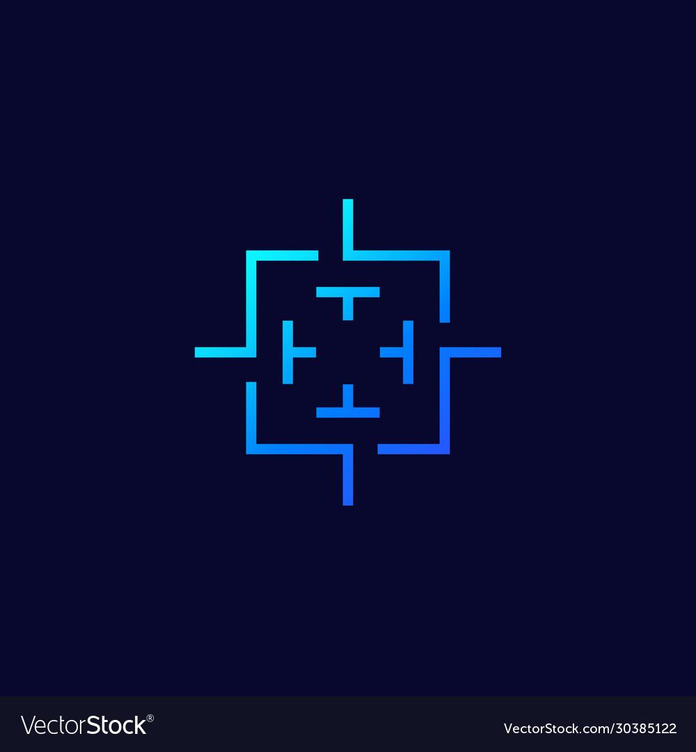 Crosshair square target logo