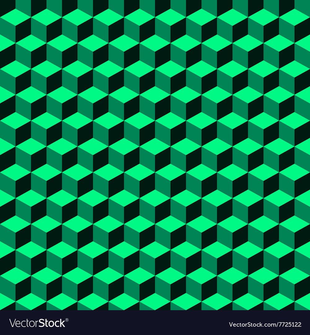 Green Geometric Volume Seamless Pattern Background
