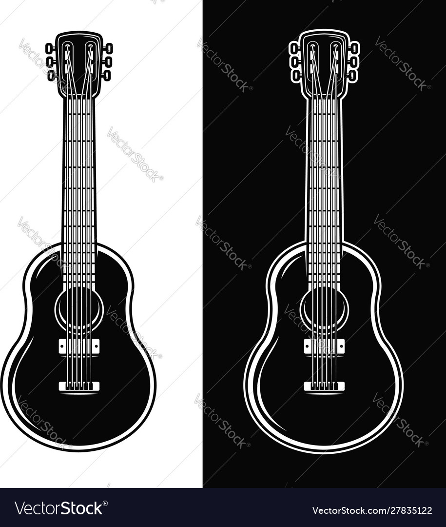 Guitar isolated on white background design