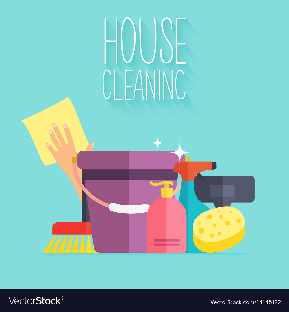 House cleaning poster template for house cleaning