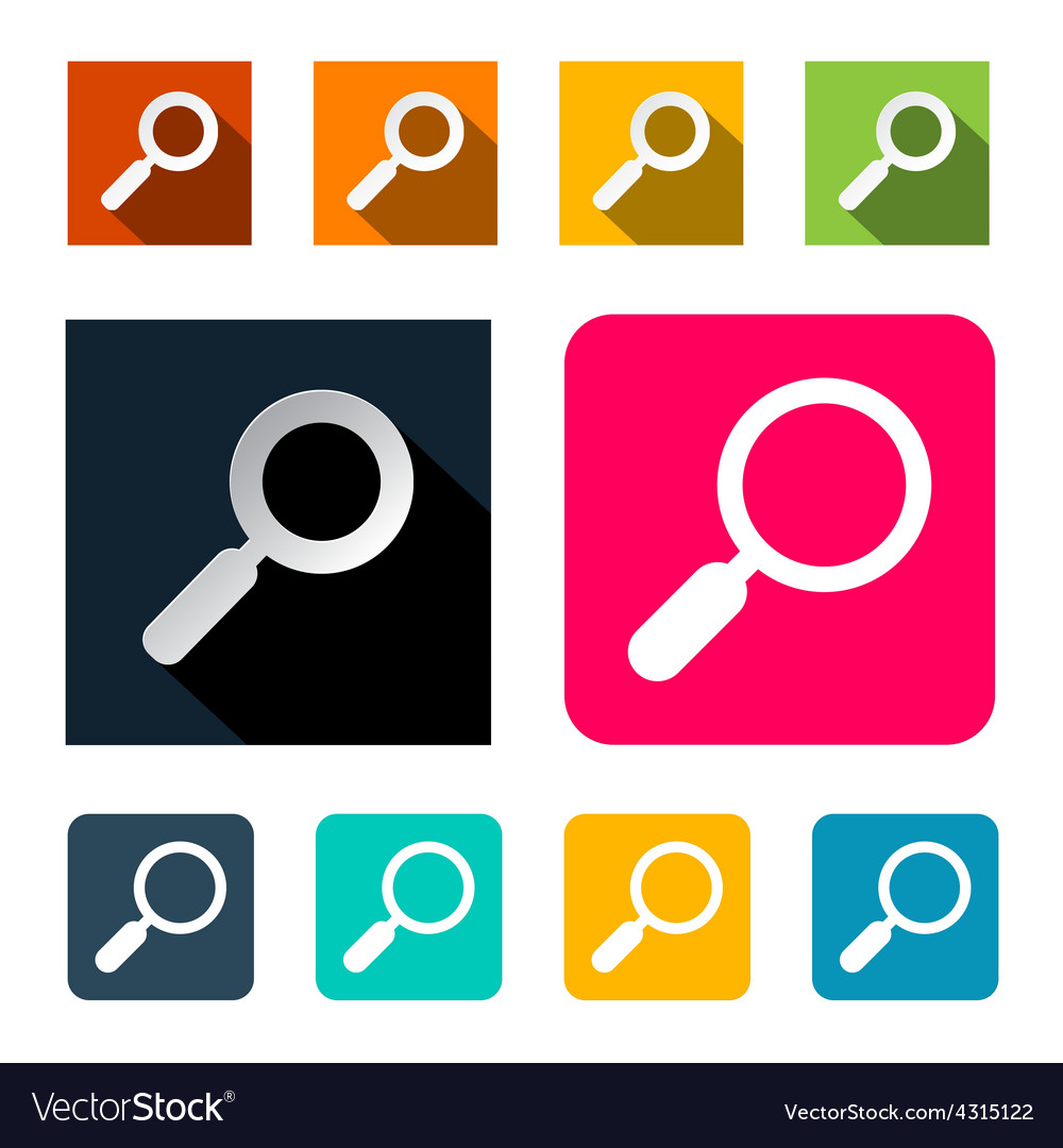 Magnifying Glass Search Flat Design