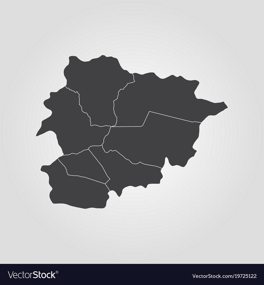Map Of Andorra Royalty Free Vector Image Vectorstock