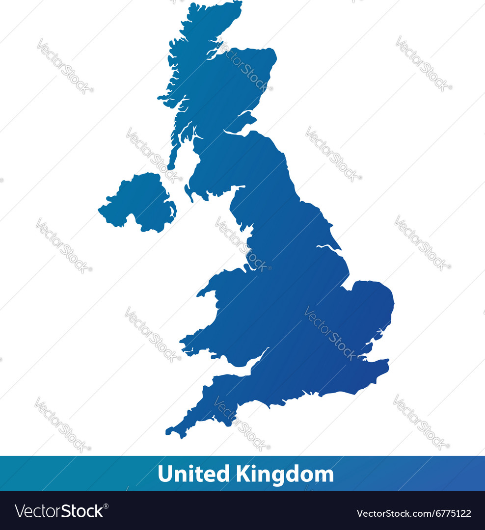 Uk Map Vector Map of UK United Kingdom Royalty Free Vector Image