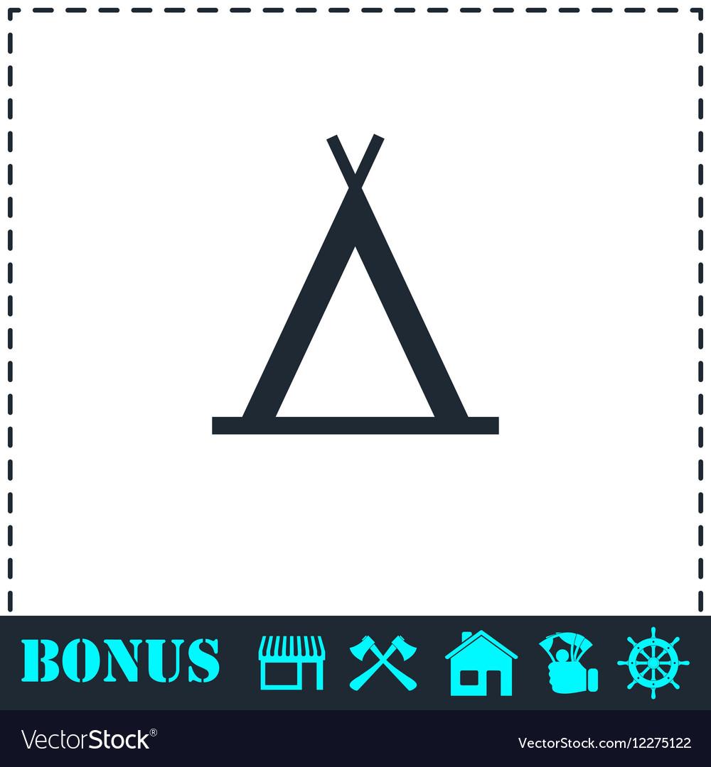 Wigwam icon flat