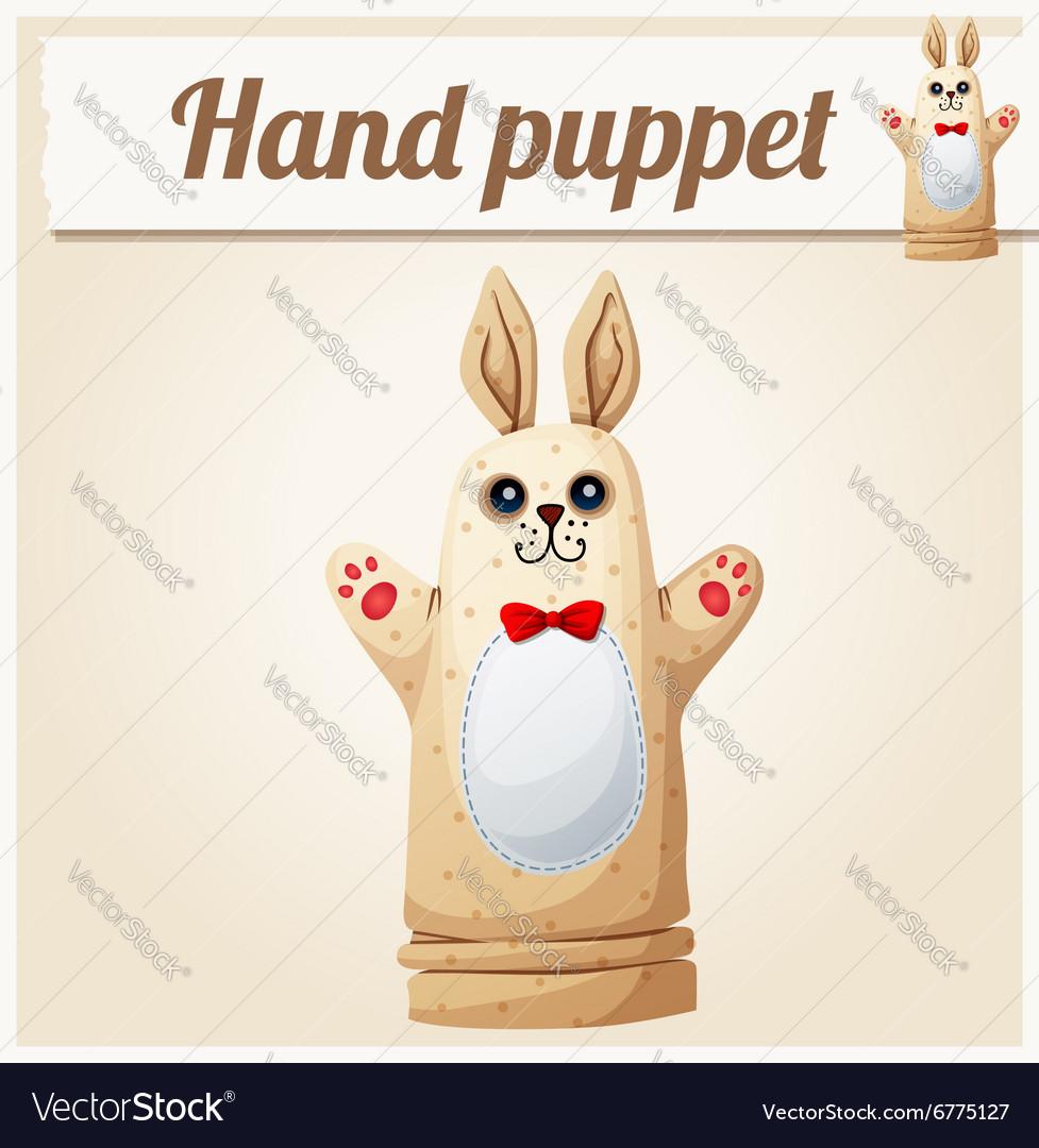 Hand Puppet Rabbit Cartoon