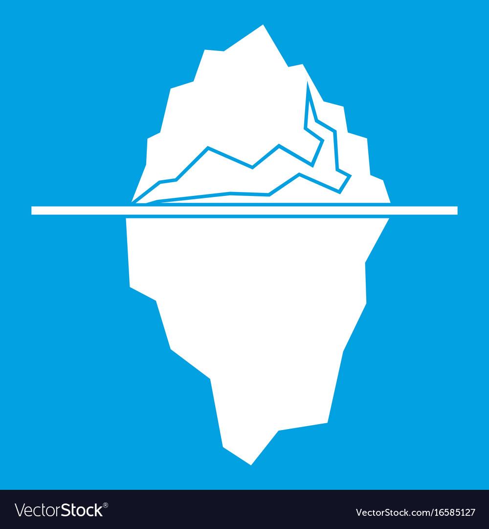 Iceberg icon white