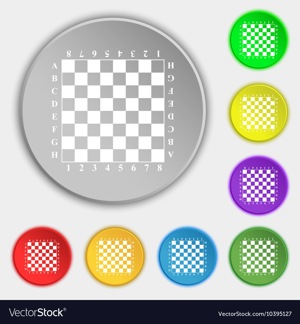 Modern Chess board icon sign Symbol on eight flat vector image