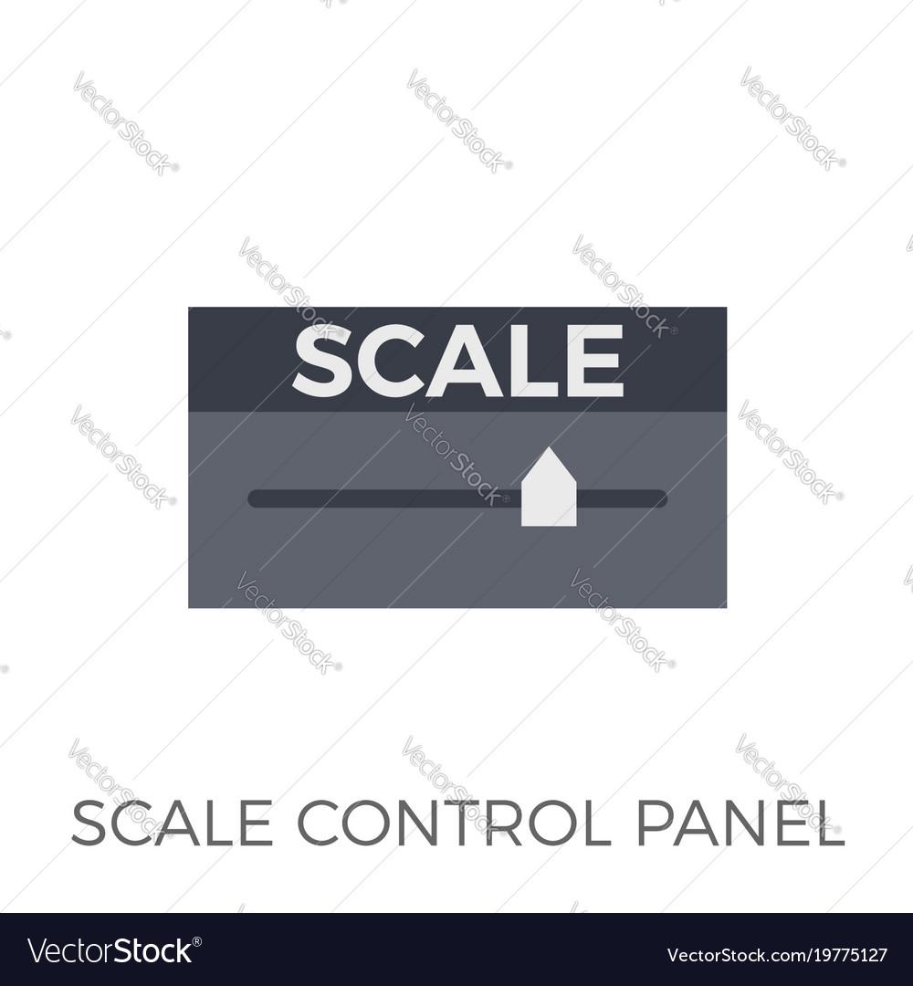 Scale control panel icon