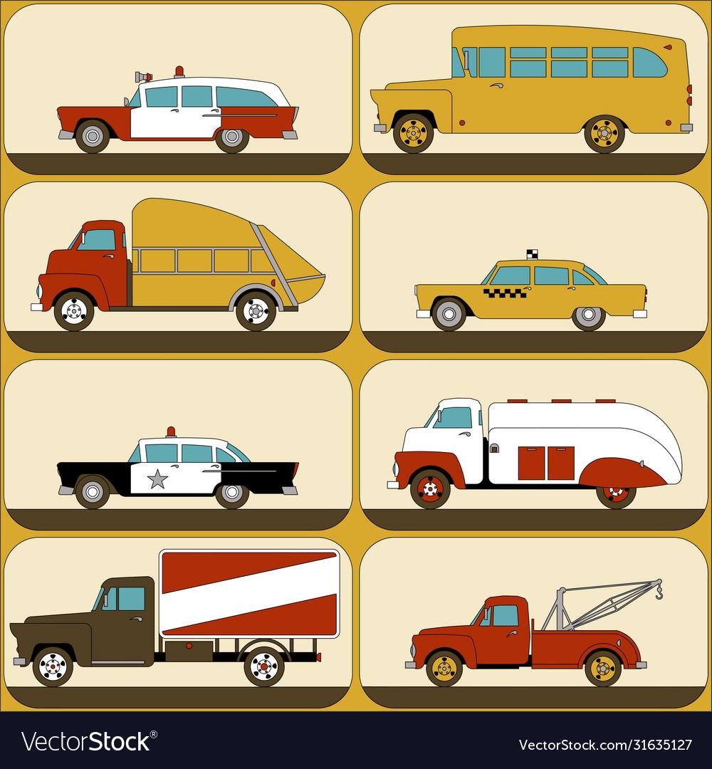 Urban transport wallpaper stickers for children