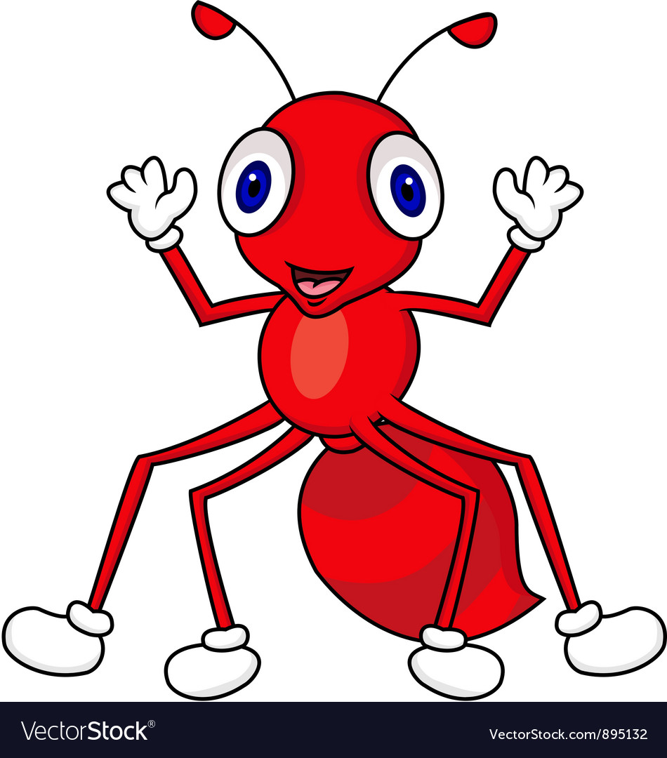 Ant cartoon vector image