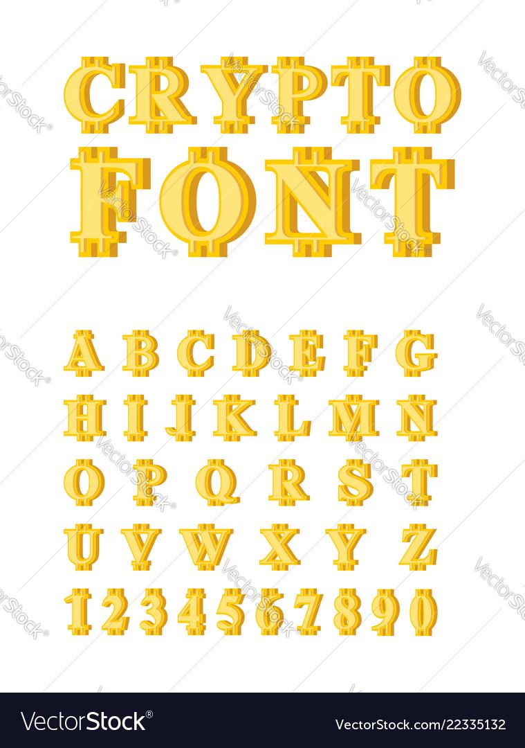 Bitcoin crypto font crypto currency alphabet web