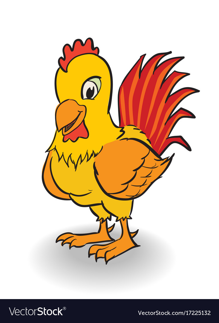cartoon rooster clipart royalty free vector image