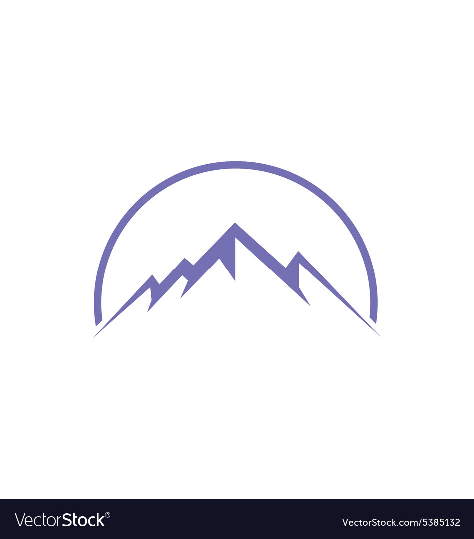 High ice mountain abstract travel logo