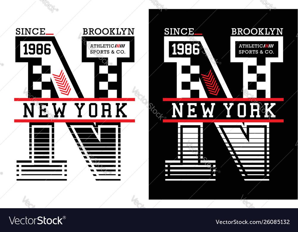 New york brooklyn typography design