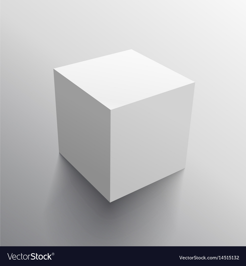 realistic 3d cube box design template royalty free vector