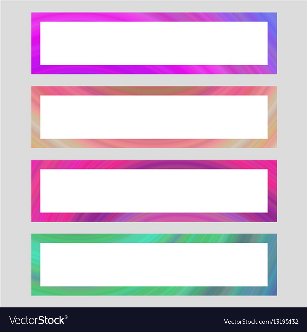 Set of colorful banner frames Royalty Free Vector Image