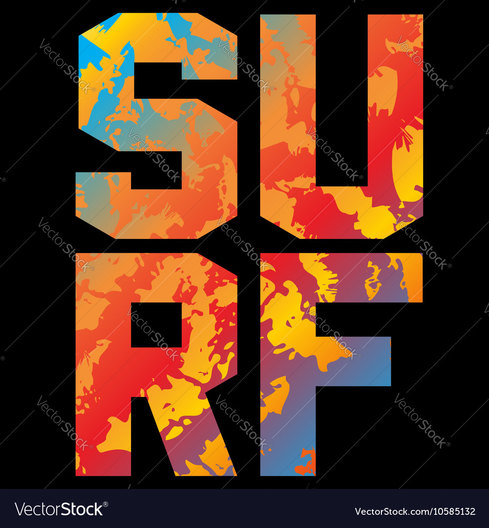 Surf t shirt typography graphics vector image