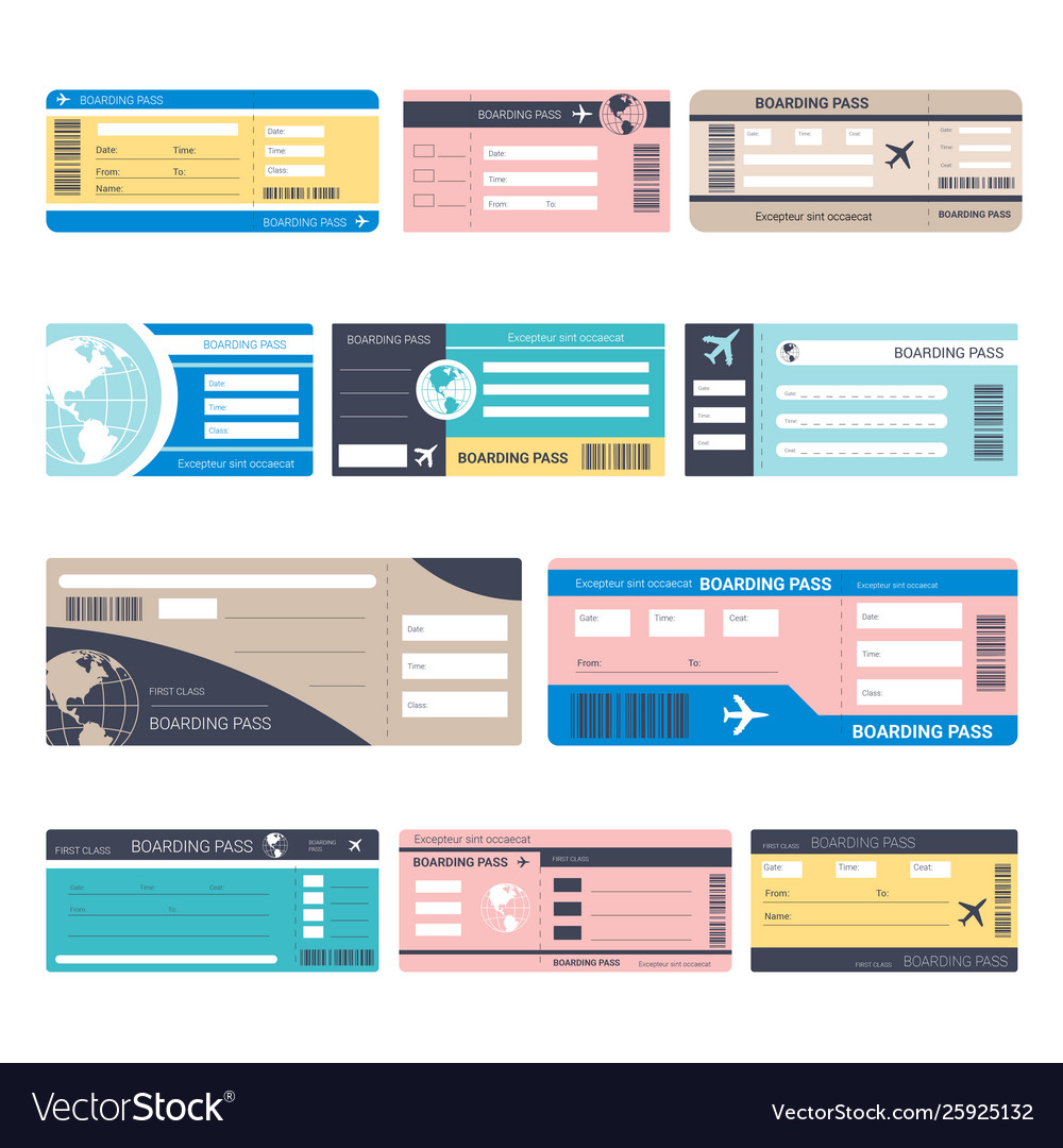 Tickets or boarding passes isolated objects